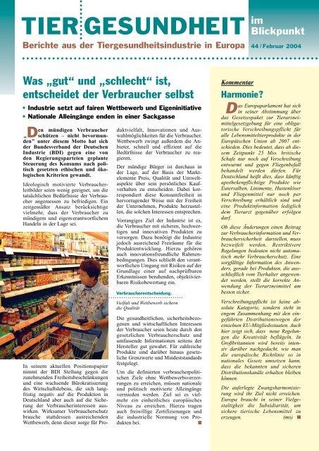 PDF-Datei - Bundesverband für Tiergesundheit