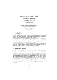 Rigid body dynamics using Euler's equations, Runge-Kutta and ...