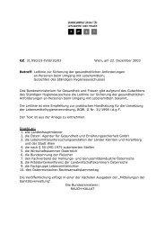 Leitlinie zur Sicherung der gesundheitlichen Anforderungen an ...