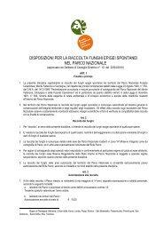 Scarica il Regolamento - Parco Nazionale delle Foreste Casentinesi