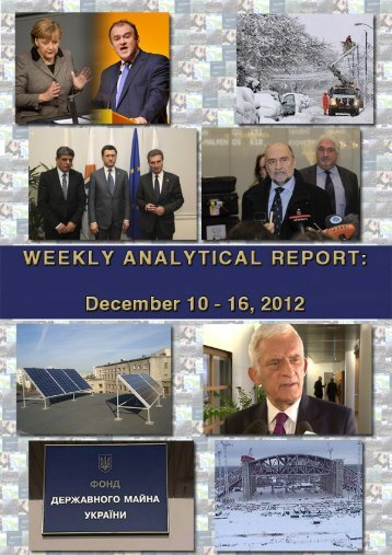 Weekly analytical report: December 10 - 16, 2012 - Українська ...
