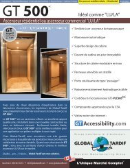 GT 500 LU/LA - Global Tardif Groupe manufacturier d'ascenseurs