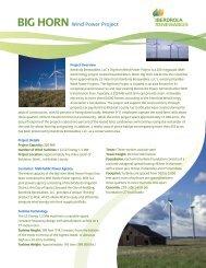BIG HORN Wind Power Project - Iberdrola Renewables