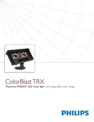 ColorBlast TRX Product Guide - Grand Stage Company