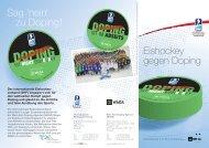 Sag 'nein' zu Doping! Eishockey gegen Doping - IIHF