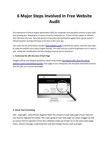 6 Major Steps Involved In Free Website Audit