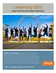 Newsletter 4 - College of Engineering - Oregon State University