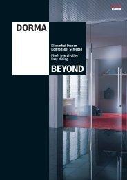 BEYOND von DORMA - Glas und Spiegel Shop