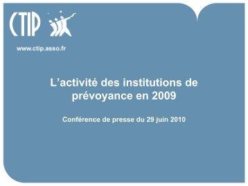 Télécharger la présentation des principaux chiffres clés (PDF ... - CTIP