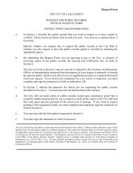 Request for Public Record Forms - City of Lake Forest