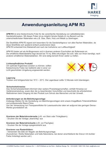 Anwendungsanleitung APM R3