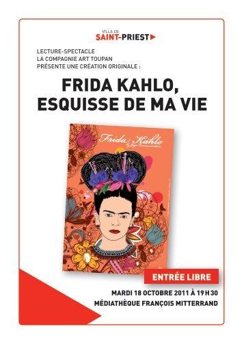 Frida KahLo, esquisse de Ma Vie Frid esquis - Mediatheque de ...