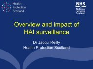 Overview and impact of HAI surveillance - Health Protection ...