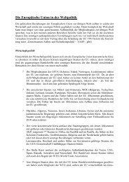 Die Europäische Union in der Weltpolitik - Examen Europaeum