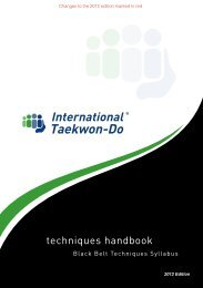 The 2012 edition updates are here. - International Taekwon-Do