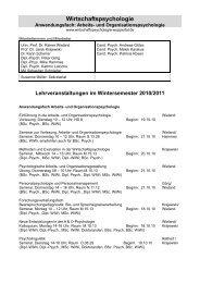 Wirtschaftspsychologie - Prof. Dr. Rainer Wieland