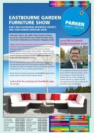 eastbourne garden furniture show - Parker Building Supplies