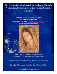 St. Catherine of Alexandria Catholic Church A Christian Community ...
