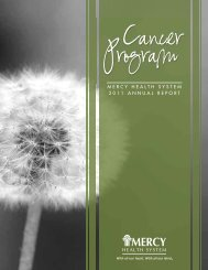 Cancer Annual Report - Mercy Regional Cancer Center