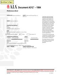 Form A312 – 1984 Performance Bond - Construction Law Today