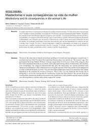 Mastectomia e suas conseqüências na vida da mulher
