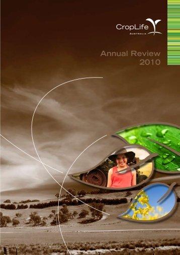 CropLife Australia Annual Review 2010.pdf