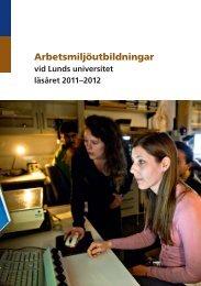 Arbetsmiljöutbildningar - Lunds universitet