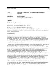 Enhancing teaching and learning through distributed ... - Seda