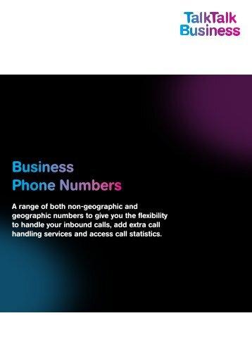 Business Phone Numbers - TalkTalk Business