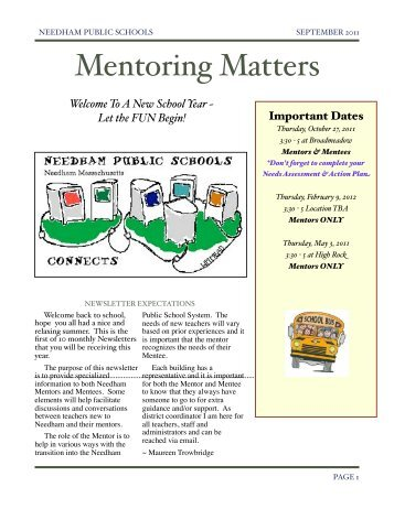 September Newsletter - Needham Public Schools