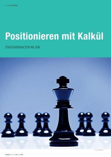 Positionieren mit Kalkül-Statusverhalten im Job