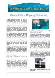 Mapping of Marine Habitats in NSW - OzCoasts