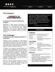 The Company: The Challenge: - Precision Software | Support