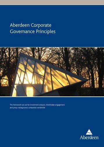 Aberdeen Corporate Governance Principles - Aberdeen Asset ...