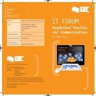 Den Flyer zur Veranstaltung finden Sie hier. - (IUH) der FH Mainz