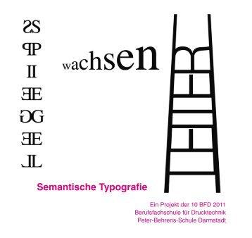 Semantische Typografie - Peter Behrens Schule