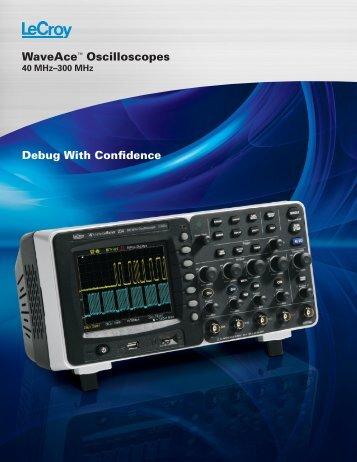 LeCroy WaveAce Oscilloscope Datasheet