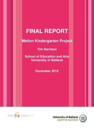 FINAL REPORT - Melton City Council