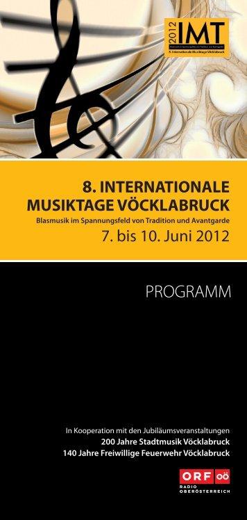 PROGRAMM - Oberösterreichischer Blasmusikverband