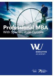 Professional MBA-Brochure - WU Executive Academy
