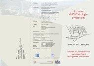 12. Jenaer HNO-Onkologie- Symposium - Klinik für Hals-, Nasen ...