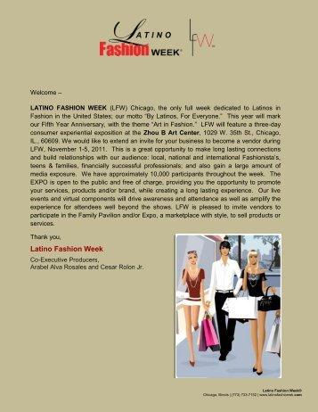 Latino Fashion Week Events