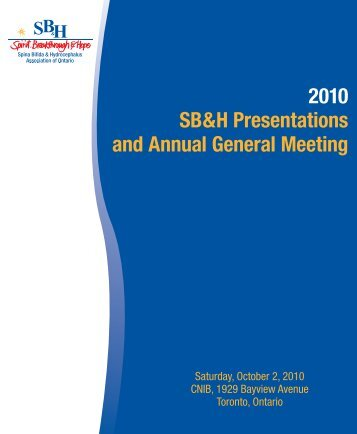 2010 SB&H Presentations and Annual General Meeting