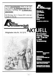 Mitglieder-Info II-2010 - Gemeinnützige Baugenossenschaft Wittlich ...