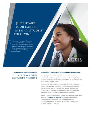jump start your career… with 0%student financing - NJSCPA