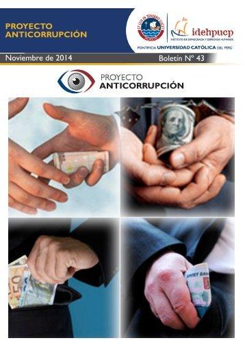 PROYECTO ANTICORRUPCIÓN Noviembre de 2014 Boletín Nº 43