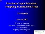 Petroleum Vapor Intrusion: Sampling & Analytical Issues - NEIWPCC