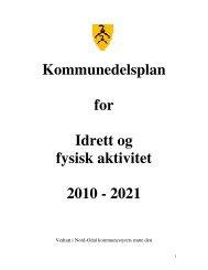 Kommunedelplan for idrett og fysisk aktivitet - Nord-Odal Kommune