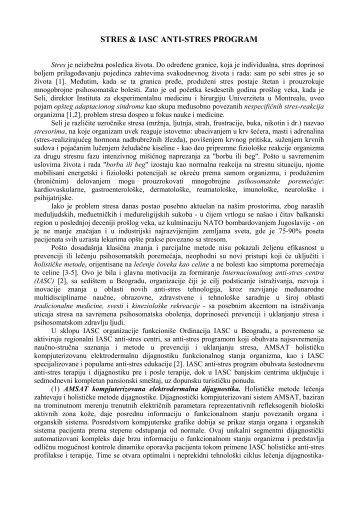 INTERNACIONALNI ANTI-STRES CENTAR (IASC) - a (www ...