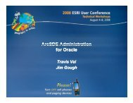 ArcSDE Administration for Oracle